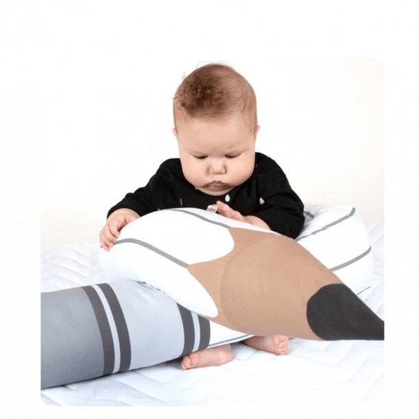 INS 3 locors crayon forme bébé lit pare-chocs bébé chambre décor jouets infantile lit Protection literie nouveau-né berceau poupée oreiller coussin
