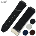 19mm New Men's Black Brown White Blue Silicone Rubber Watch BAND Metal Buckle Strap Relojes Hombre 2016