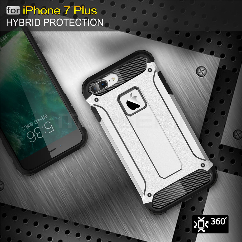 Silicone Luxury Shockproof Hard PC TPU Armor iPhone Case 7