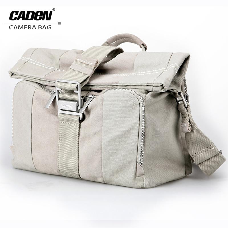Prix pour Caden caméra épaule sacs numérique vidéo photo dslr cas sac toile souple sac gris clair pour dslr nikon canon sony L1