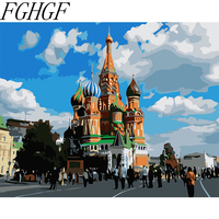 Painting By Numbers Russian Building Coloring By Numbers Home Decor Canvas Painting By Numbers Decorations Wall