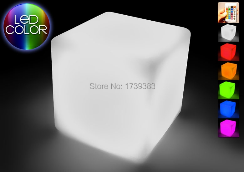 4pcs/lot hot!20CM Magic Dice waterproof LED square cube chair lumineux light for home/hotel/bar/pub/cafe house/nightclub/wedding
