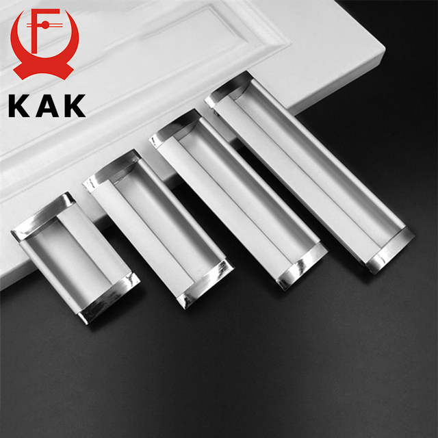 Kak Hidden Cabinet Drawer Handles Embed S Kitchen Cupboard Door Aluminium Alloy Handle Wardrobe Pulls Furniture Hardware