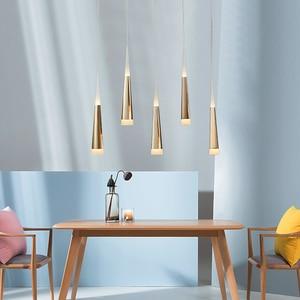 Image 3 - Led Pendentif Lampe dimmable lampes Suspendues Îlot De Cuisine Salle À Manger Boutique Comptoir de Bar Décoration Cylindre Tuyau Cuisine Lumières