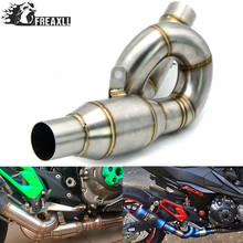 Motorcycle Connecting Mid Link Pipe Slip on Exhaust Exhaust Pipe Connector Adapter For Kawasaki Z800 2013 2014 2015 2016 2017