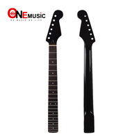 Black 22 Frets Right Hand Maple Guitar Neck Rosewood Fingerboard For ST Strat Guitar Replacement