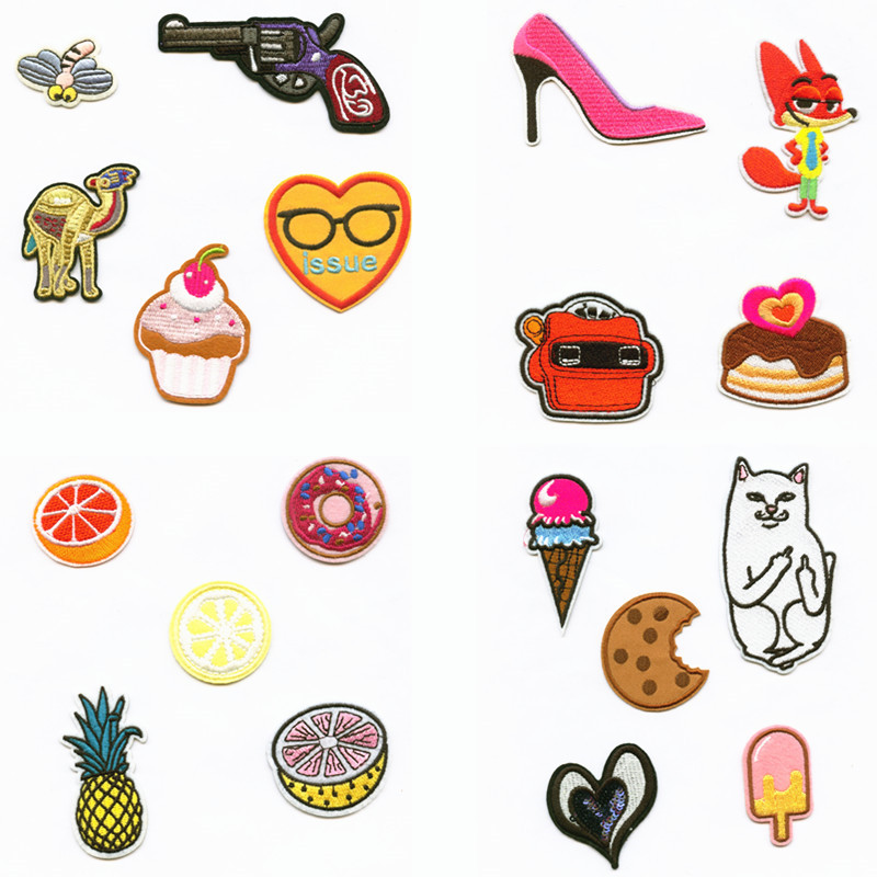 Fruit Food Eat Summer Cake Patchwork Patch Embroidered Patches For Clothing Iron On For Close Shoes Bags Badges Embroidery in Patches from Home Garden
