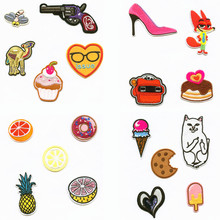 Fruit Food Eat Summer Cake Patchwork Patch Embroidered Patches For Clothing Iron-On Close Shoes Bags Badges Embroidery