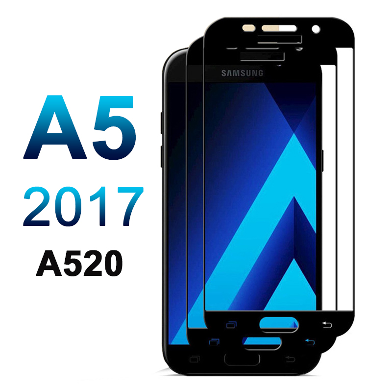 2.5D 9H Full Cover for Samsung Galaxy A5 2017 A520 Glass for Samsung Galaxy A 5 2017 A 520 Tempered Glass Screen Protector Film