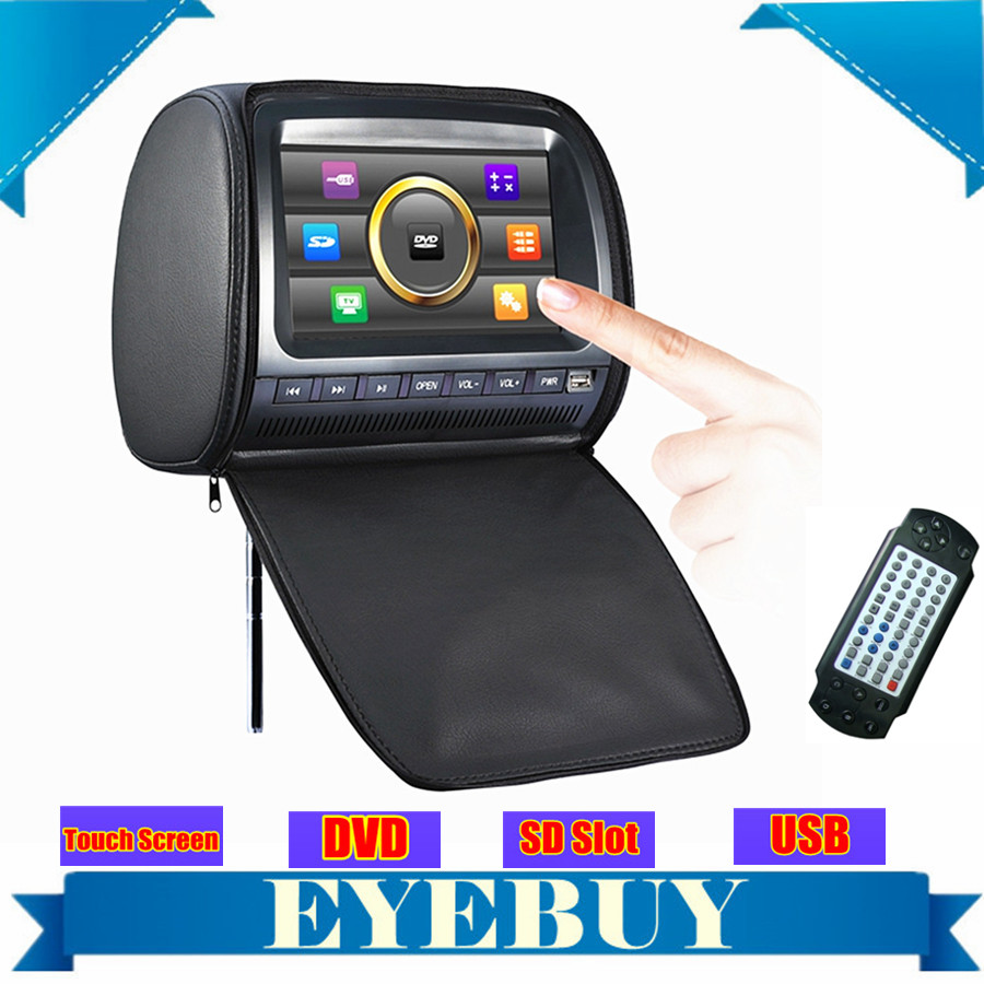 9 inch universal car auto dvd headrest monitor touch screen USB SD MP3 speaker car dvd