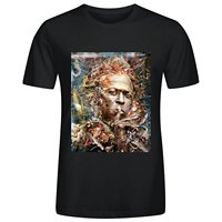Printed Round T Shirt Cheap PriceCrew Neck Men Casual Short Design Miles Art Mens T-shirt Cotton O neck