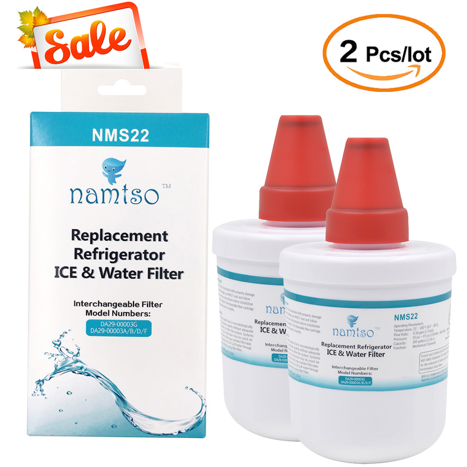купить 2018 New Water Purifier Namtso NMS22  Refrigerator Ice & Water Filter Cartridge Replacement for Samsung DA29-00003G 2 Pcs/lot по цене 2117.84 рублей
