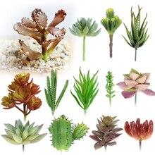 Micro Multi-Color Artificial Flowers Ornaments Lithops Succulents Plants Wedding Home Garden Decoration