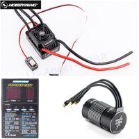 Original HOBBYWING EZRUN SC C2 3656 3400kv 4000KV 4700kv RC Motor & WP SC8 120A ESC With LED program card Combo