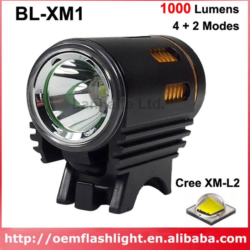New Cree XM-L2 U3 LED 4+2-Mode 1000 Lumens Bike Light - Black And Gold