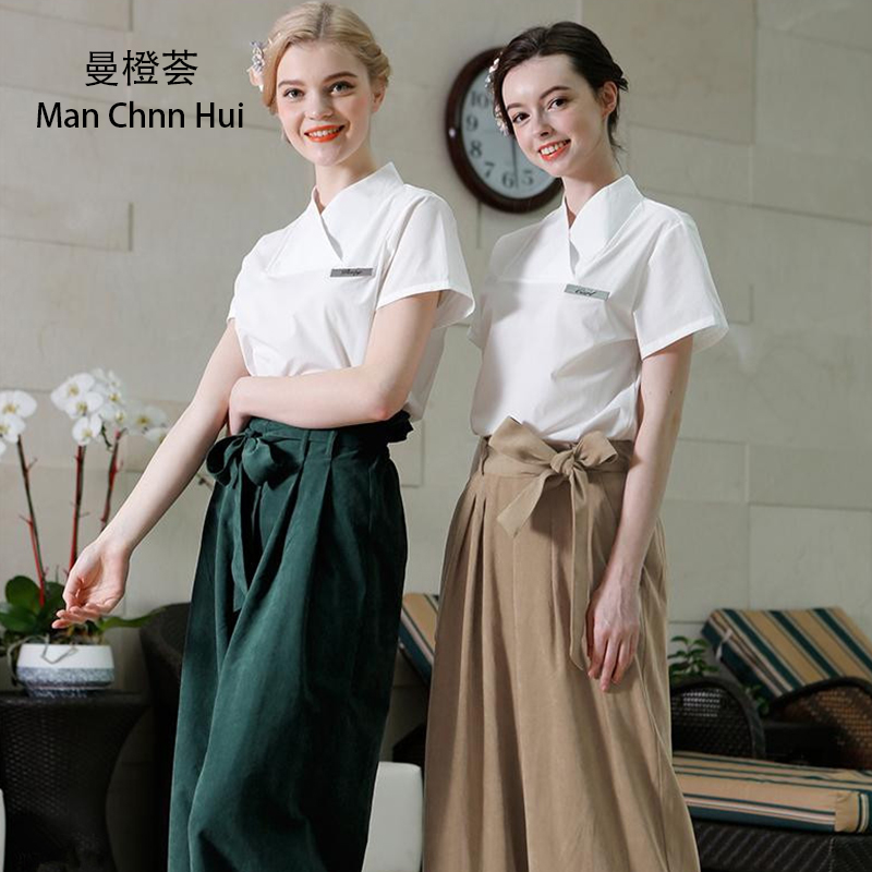 SPA Clothing Beauty Salon Uniforms Set Of 2pcs High Quality Thai Foot Massage Cosmetologist Workwear Medical Clothing