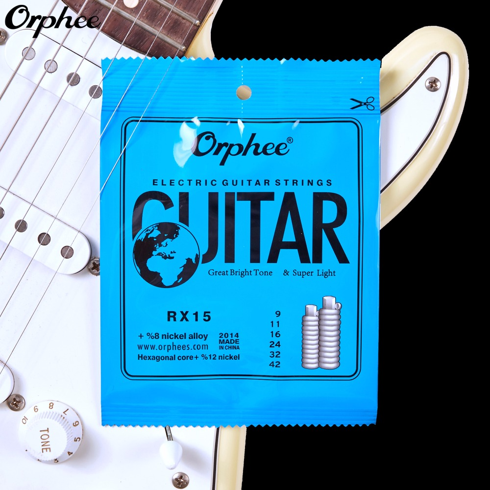 Electric Guitar String 009-042 inch Nickel Alloy Orphee RX15 009 042 electric guitar strings color nickel alloy hat cew730