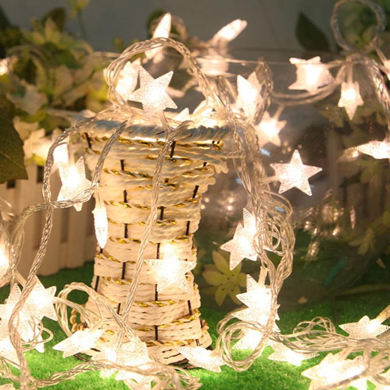 Winkelen Voor Goedkoop 2.5 M 20 Leds Ster Led Luces Cortina De Led Decoracion String Natale Lamp Fairy Licht Voor Wedding Kerstvakantie Luzes De Natal Grote Uitverkoop