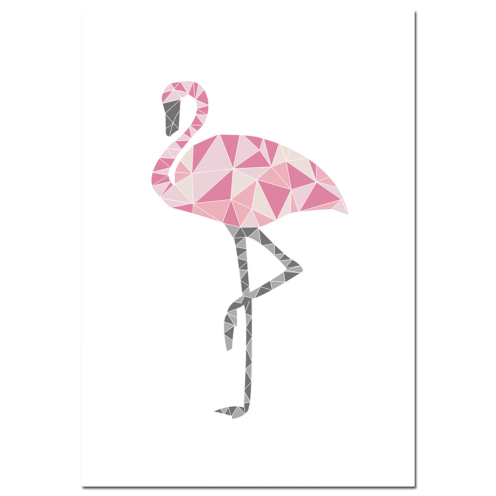 Quotes Home Decor Poster Wall Art Print Unframed Flamingo