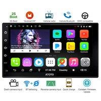 ATOTO A6 работающий от Din Android автомобильное радио DVD плеер с JPS и навигацией/2 * Bluetooth/A6Y2721P 2G + 32G/2A Быстрая зарядка/Indash мультимедиа/Wi-Fi