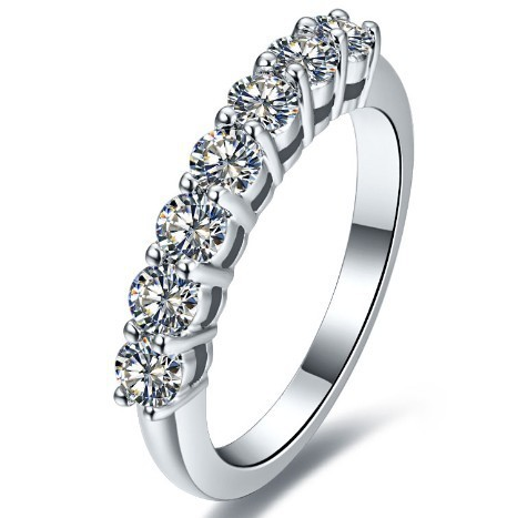 Idealny piękny zespół 0.7 Carat w stylu Vintage NSCD LC diamentowe wesele pierścionek jubileuszowy dla kobiet wygrawerować litery za darmo w Pierścionki od Biżuteria i akcesoria na  Grupa 1