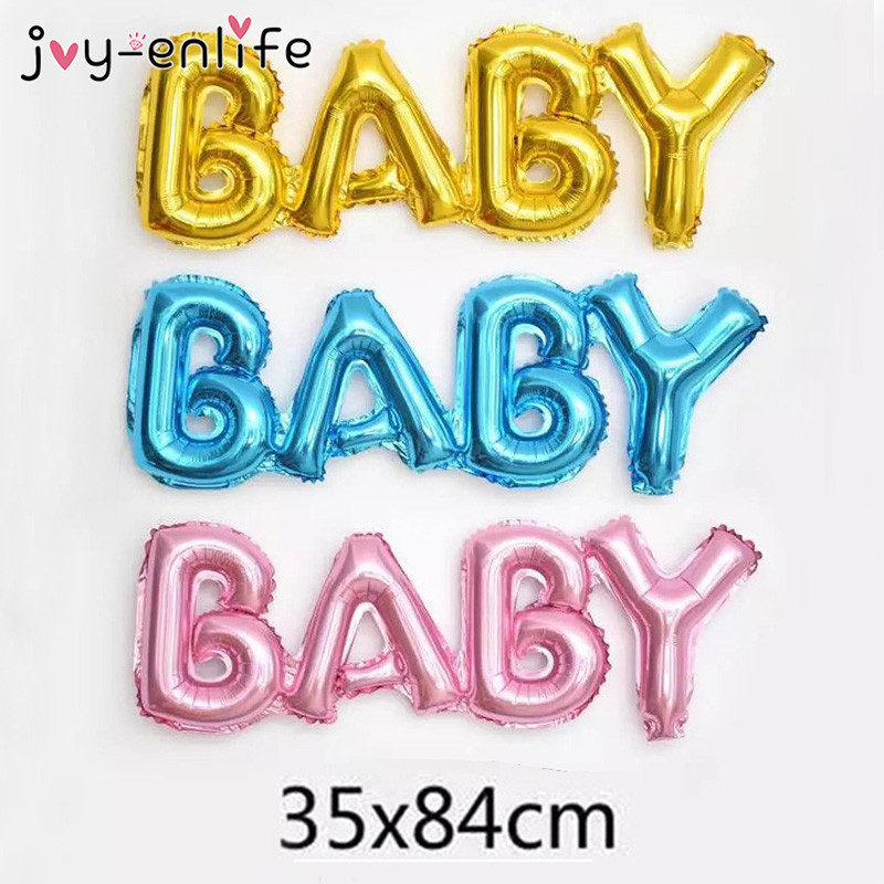 JOY-ENLIFE 3styles Party Decor DIY Foil Letter Balloons BOY/GIRL/BABY Party Event Supplies Birthday Baby Shower Wedding Decor