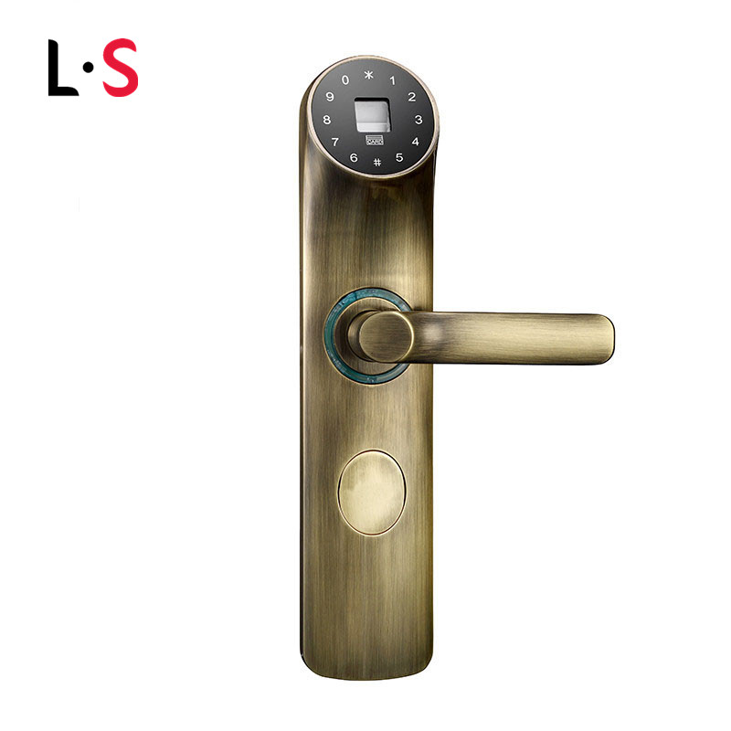 Biometric door lock fingerprint code card key digital for 1 touch fingerprint door lock