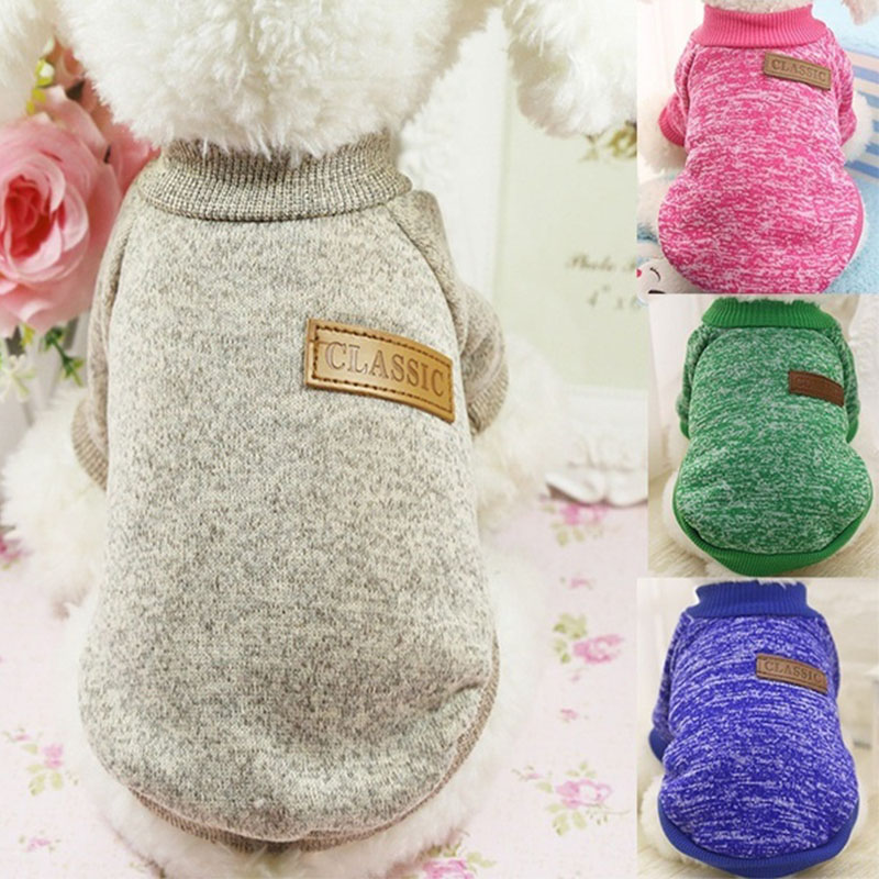 Classic Warm Dog Clothes Puppy Pet Cat Clothes Sweater Jacket Coat Winter Fashion Soft For Small Dogs Chihuahua XS 2XL|Dog Coats & Jackets| |  -