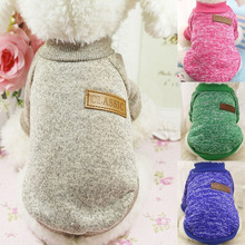 Classic Warm Dog Clothes Puppy Pet Cat Clothes Sweater Jacket Coat Winter Fashion Soft For Small Dogs Chihuahua XS 2XL