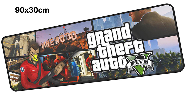 gta v mousepad gamer 900x300X3MM gaming mouse pad large locked edge notebook pc accessories laptop padmouse ergonomic mat