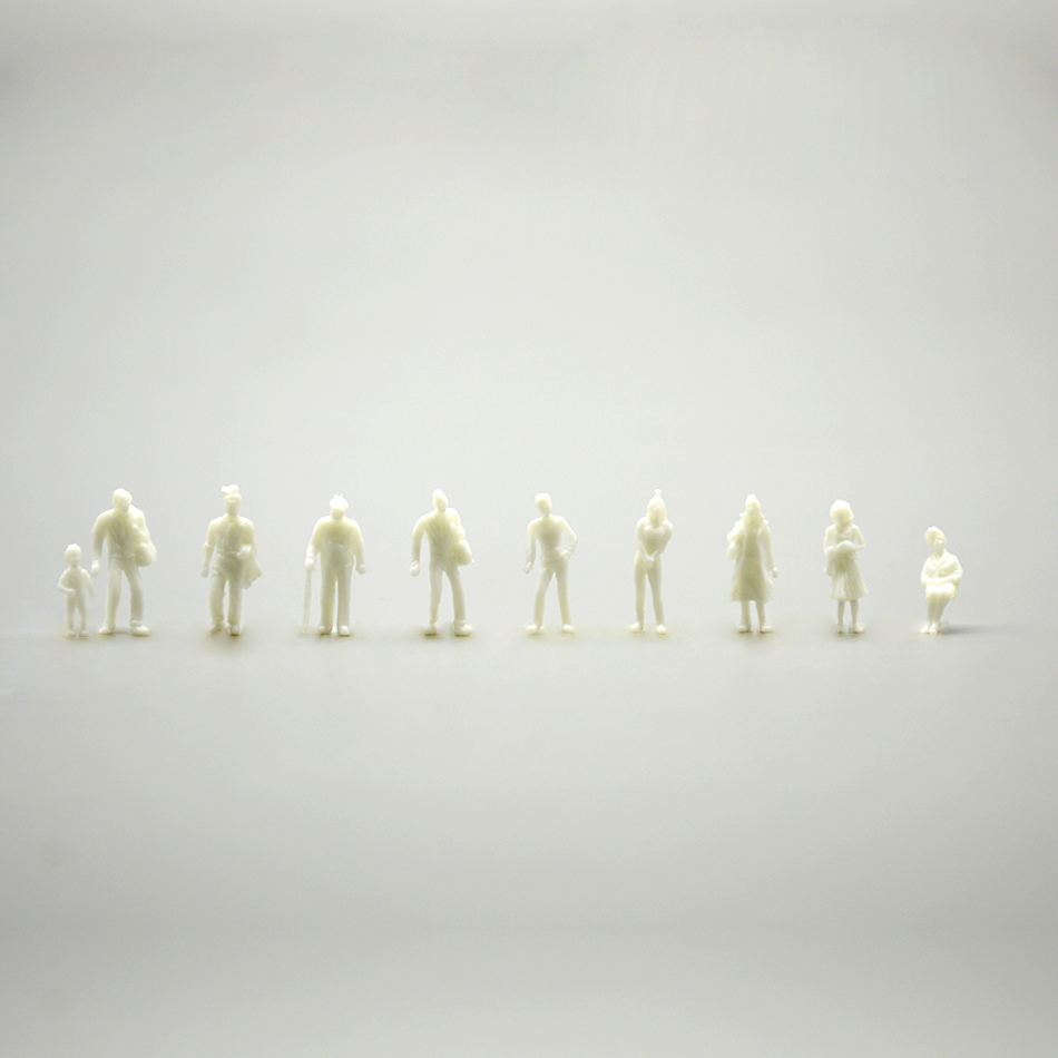 300pcs 1:100/150/200 Mixed Miniature White Model Figures Architectural Model Human Scale HO Model Resin Plastic Peoples