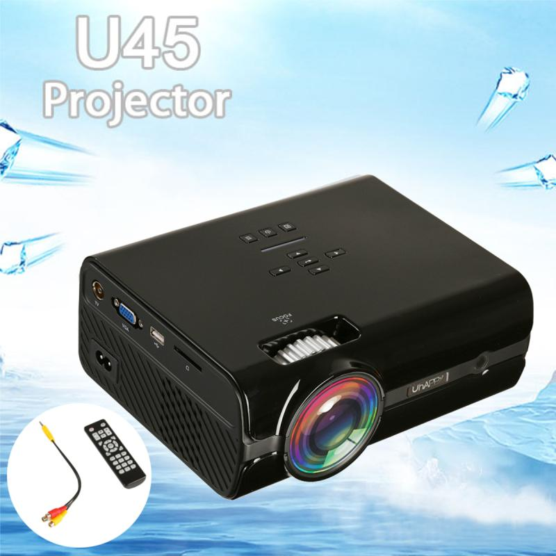 Uhappy U45 Projector 7500 Lumens 1080P 3D HD LED Portable Projector Stereo Speakers Theater Home Cinema Home Vedio Projector цены