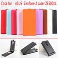 Moda 9 cores litchi textura flip caso capa de couro para Asus ZenFone 2 ZE500KL ZE500KG 5.0 polegada de proteção shell