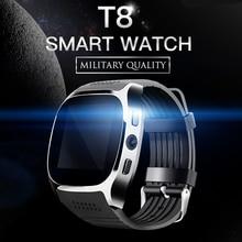 T8 Relógio Inteligente Apoio Whatsapp Facebook SIM Card TF Chamada Com Câmera Bluetooth Smartwatch Para Android Phone freeshipping