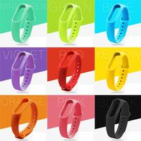 MiBand 2 Silicone Replace Strap For Xiaomi Mi Band 2 Wristbands For Mi Band 2 Smart Bracelet 8 Color Mi Band Accessories belt
