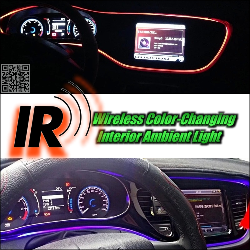wireless ir control car interior ambient 16 color changing light diy instrument panel dashboard. Black Bedroom Furniture Sets. Home Design Ideas