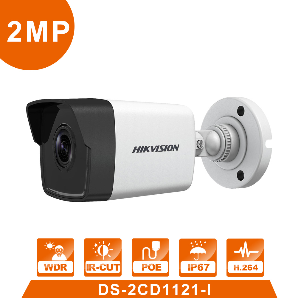 POE Bullet DS-2CD1021-I  IP Camera Outdoor Day/Night Vision Security Camera alarm system for home videcam serveillance system bullet camera tube camera headset holder with varied size in diameter