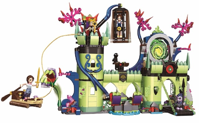 New Elves Breakout from the Goblin King's Fortress Building Blocks Educational toys 41188 Compatible with Lego Best Gift image