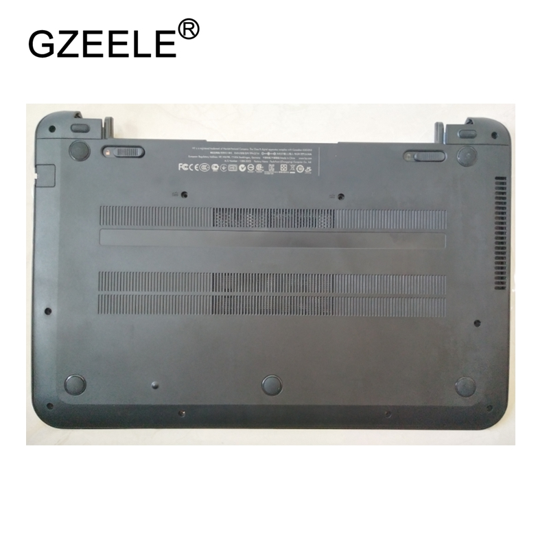 GZEELE New Laptop Bottom Base Case Cover for HP Pavilion 15-b RT3290 Base Chassis D Case shell lower case black 701697-001 shell gzeele new laptop bottom base case cover for lenovo g570 g575 g575gx g575ax base chassis d cover case shell with hdmi port parts