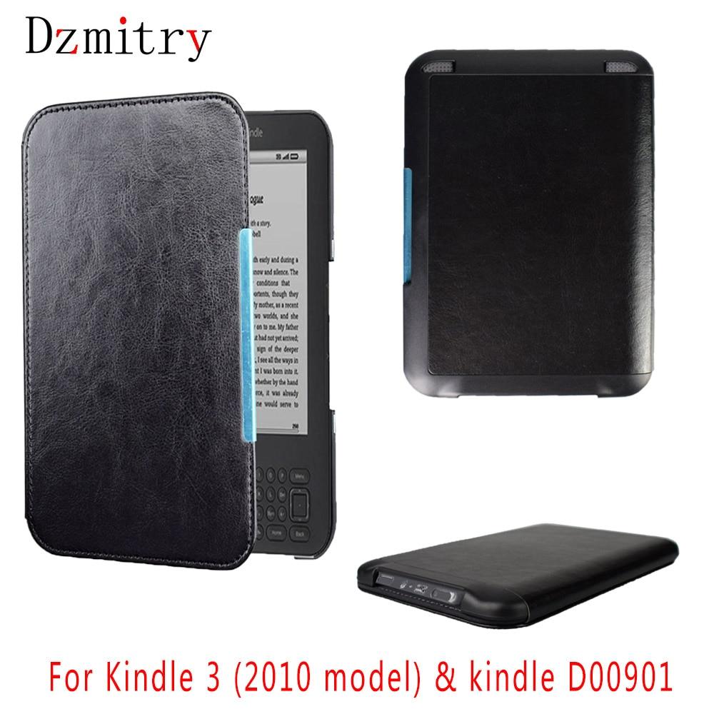 PU leather Virar folio Magnético da capa do Livro Para Amazon Kindle Capa 3 teclado com leitor de ebook eReader tela D00901 estojo protetor