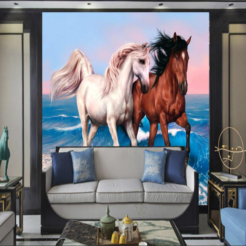 custom home improvement 3d wall paper rolls photo wallpaper for walls 3d mural background  Running horse oil bedroom living room custom home improvement 3d wall paper rolls photo wallpaper for walls 3d geometric background wall wallpaper murals