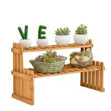מדפי מפעל פרח תצוגת Stand גן ארגונית עומד Plantas מתלה מרפסת קישוט במבוק מדף אחסון מדף בעל