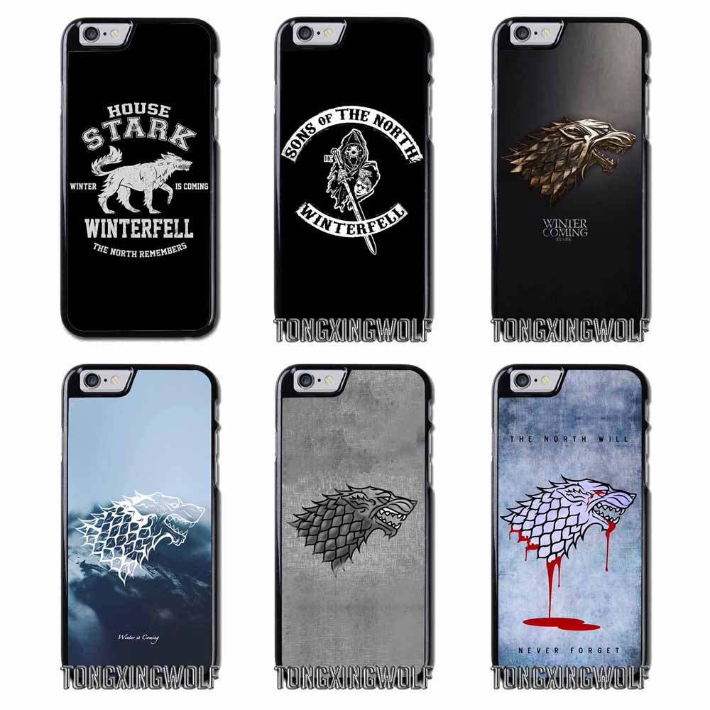 best loved e5ac2 2cae3 Game of Thrones GOT House Stark Cover Case For Iphone 4 4s 5 5c 5s ...