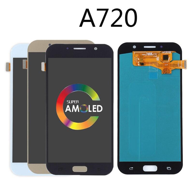 Origine AMOLED OLED lcd pour samsung Galaxy A7 2017 lcd A720 A720F A720F/DS Affichage ensemble numériseur à écran tactile