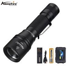 Alonefire X007 zoom led flashlight usb charging ultra bright
