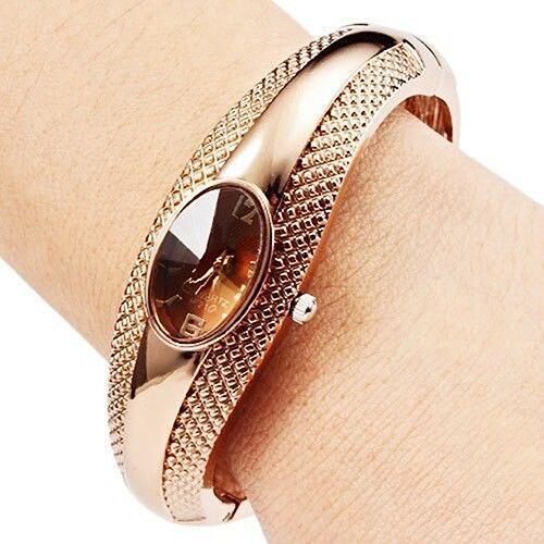 Designed Golden Women's Girl's Bracelet Wrishtwatch Bangle Crystal Wrist Watch  New Design 5DDM 6YM1