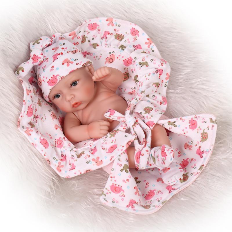 26cm Npk Mini Bebe Reborn Babies 100 Full Body Silicone