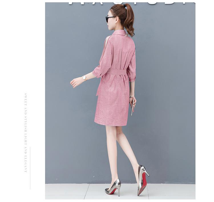 Dress female spring and autumn 2019 new fashion commuter slim strapless denim dress tide vestido Q280 15