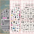 Belleza C Más Nuevo 3 DISEÑOS MAGICO serie del arte del clavo 3d pegatinas nail art decal nail art stampingwholesale