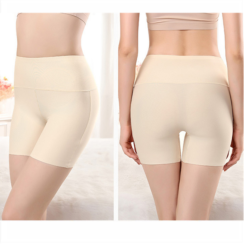 Ice Silk Widen Size Leggings Anti Emptied Seamless Breathable Panties For Women